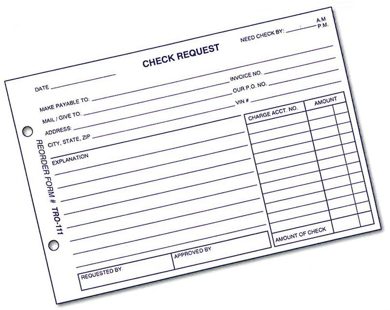 Check Request Reimbursement Procedures – Herecomesfun